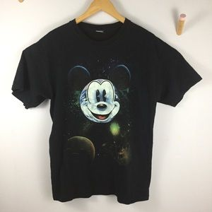 Mickey Mouse galaxy glow in the dark shirt